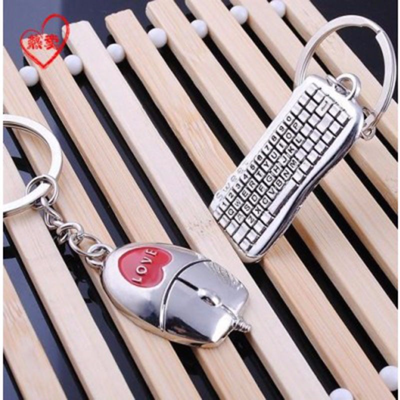1 Pair Mouse And keyboard Key Ring