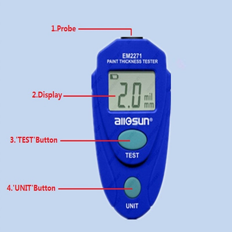 Digital Mini Car Painting Thickness Tester Paint Thickness Meter