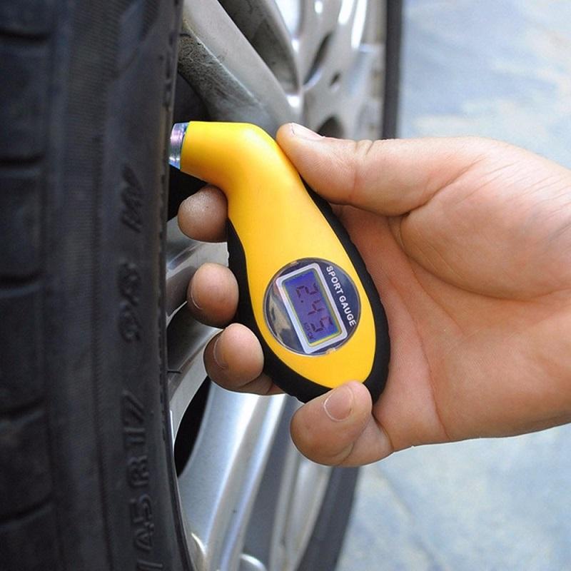 Digital LCD Car Tire Tyre Air Pressure Gauge Meter Yellow