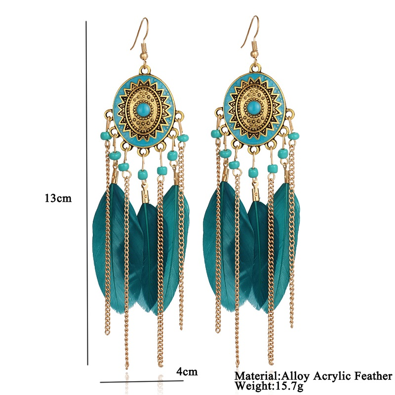 Bohemia Vintage Women Earrings Tassel Bead