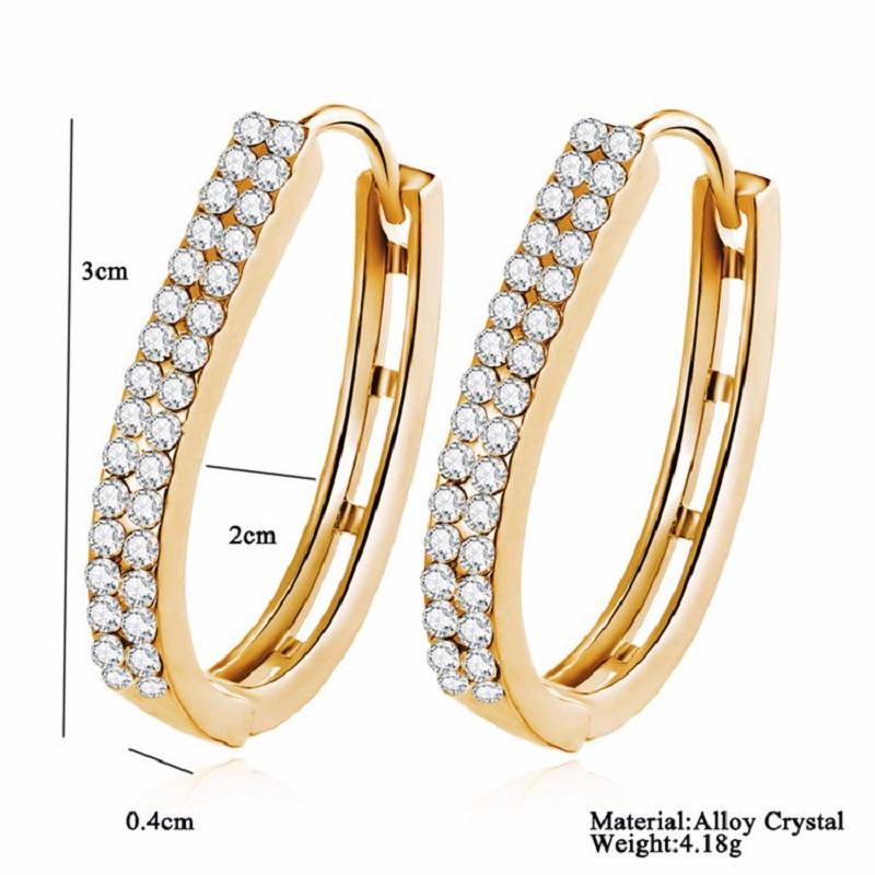 Zircon Crystal Stud Earrings for Women Ear Jewelry