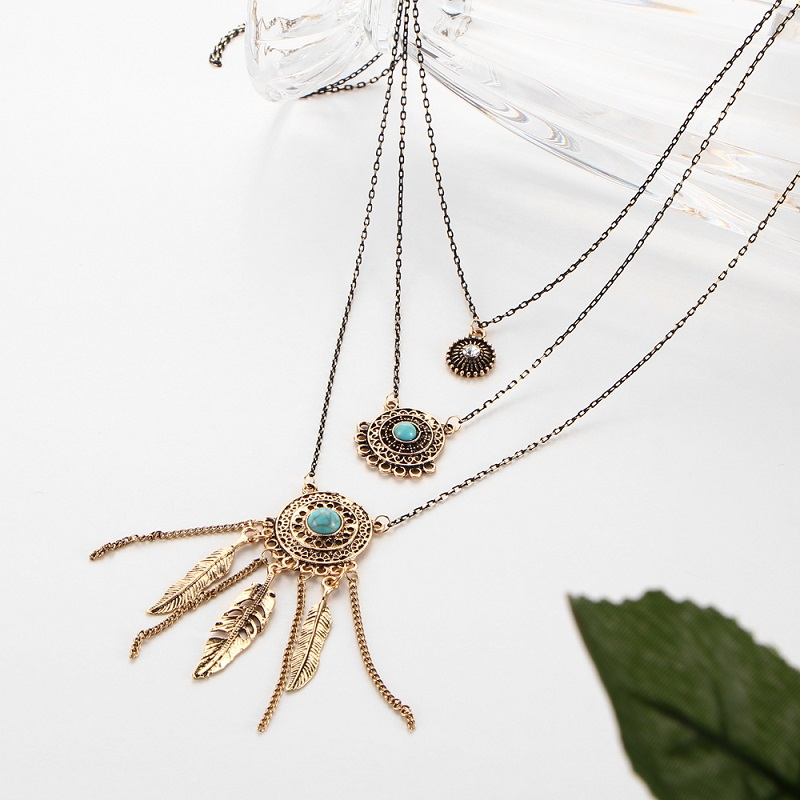 Tassel Leaf Chain Necklaces
