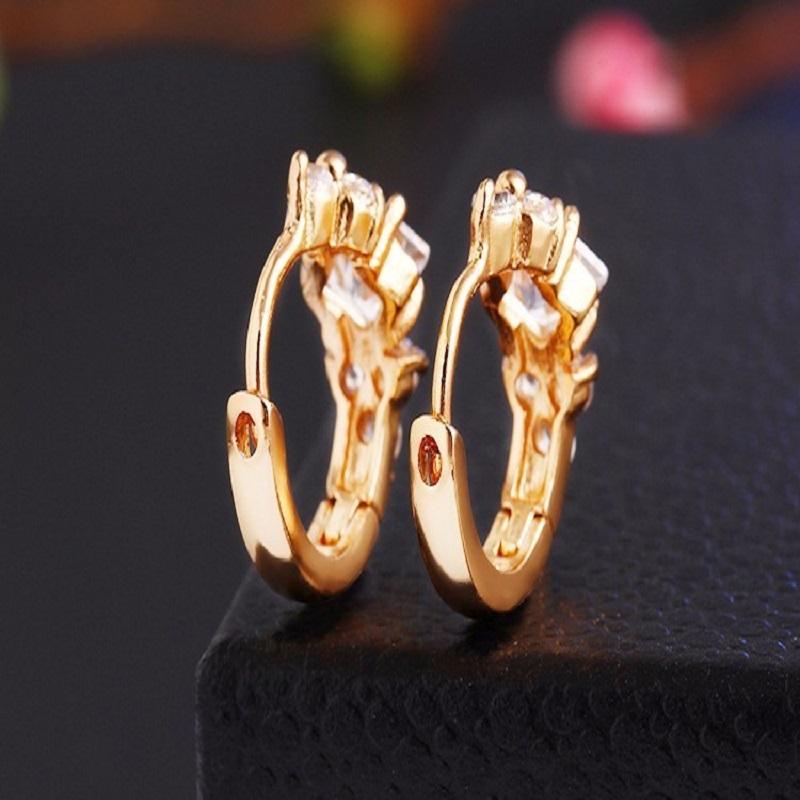Cubic Zirconia Crystal Stud Earrings