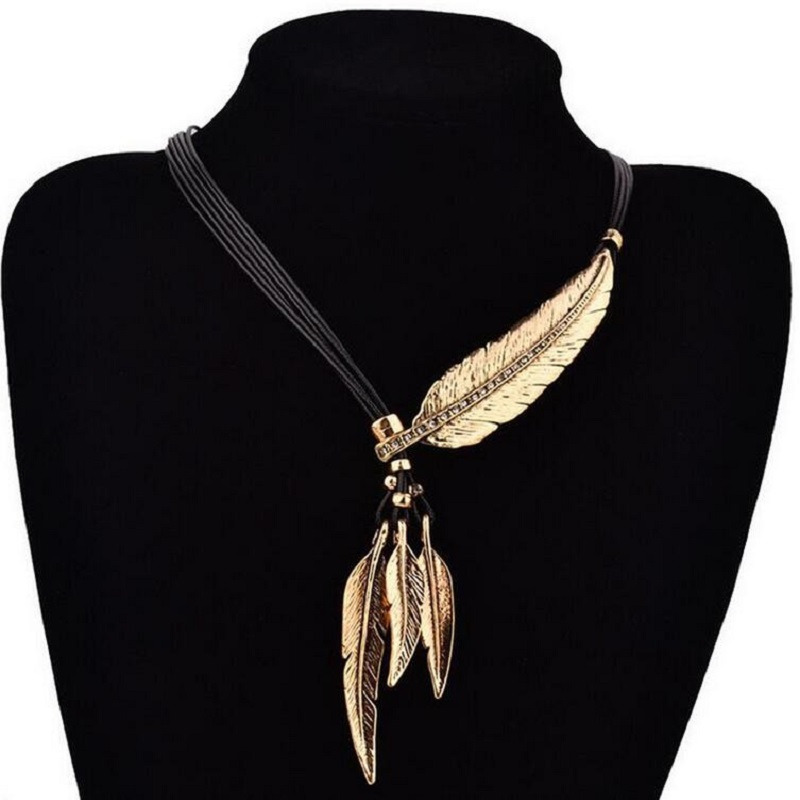 Feather Necklaces & Pendants Rope Leather Vintage