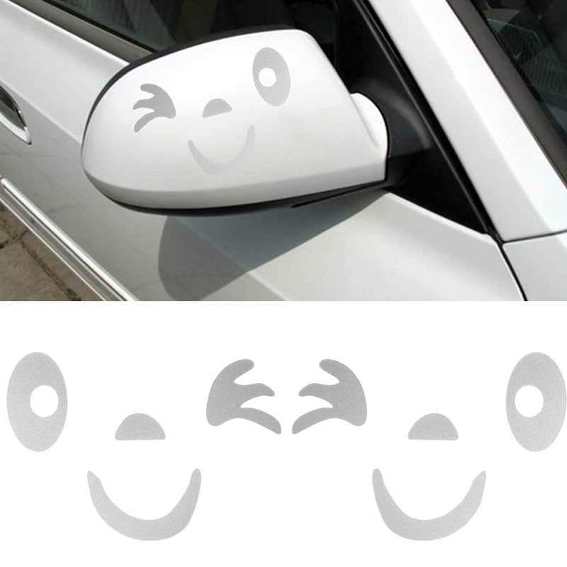 Valuable Car Styling Smile Face 3D Decal Sticker for Auto Car Side Mirror VGCA
