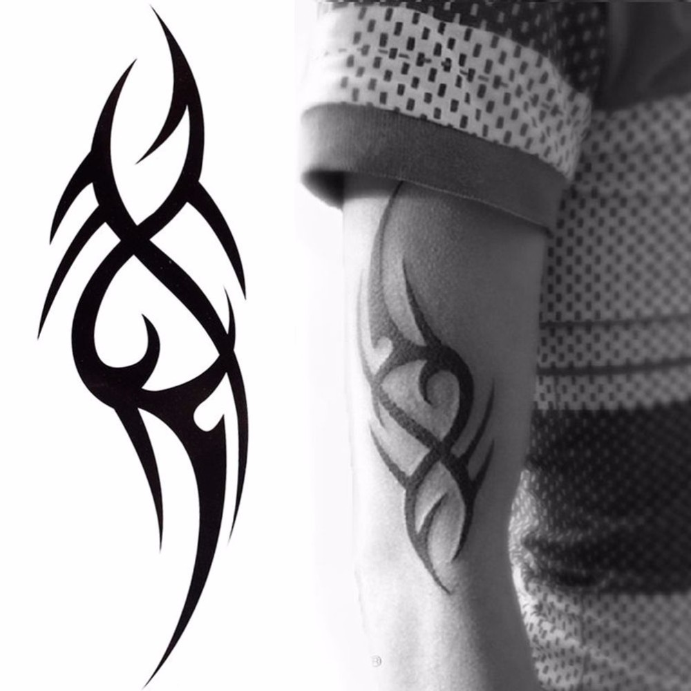 Visible. Half Sleeve Arm Temporary Tattoo Stickers Body Art Water Proof Tattoo Body Tattoo