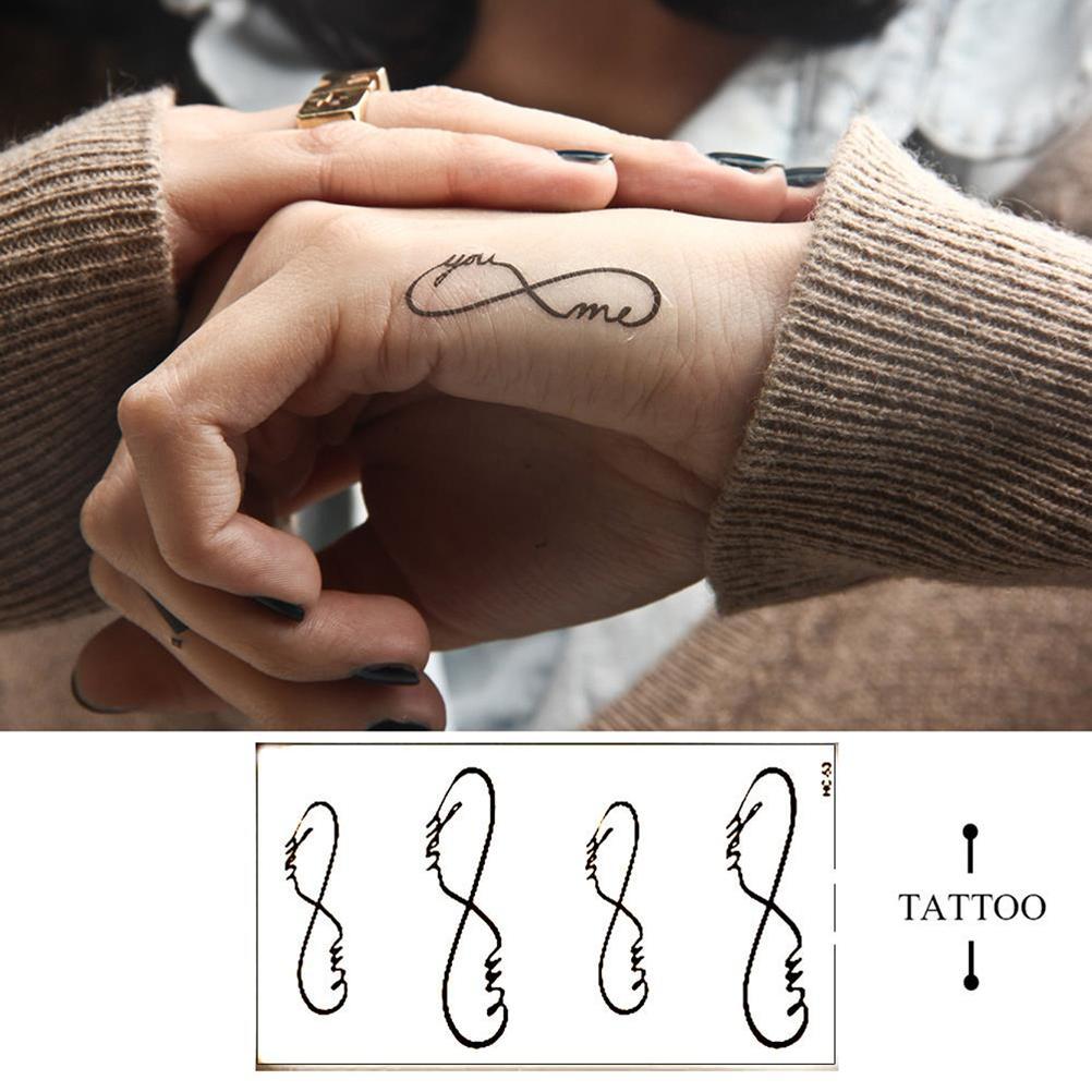 Pack of 4 Love Letter Tattoos Temporary Body Art Tattoo Water Proof Tattoo Body Tattoo