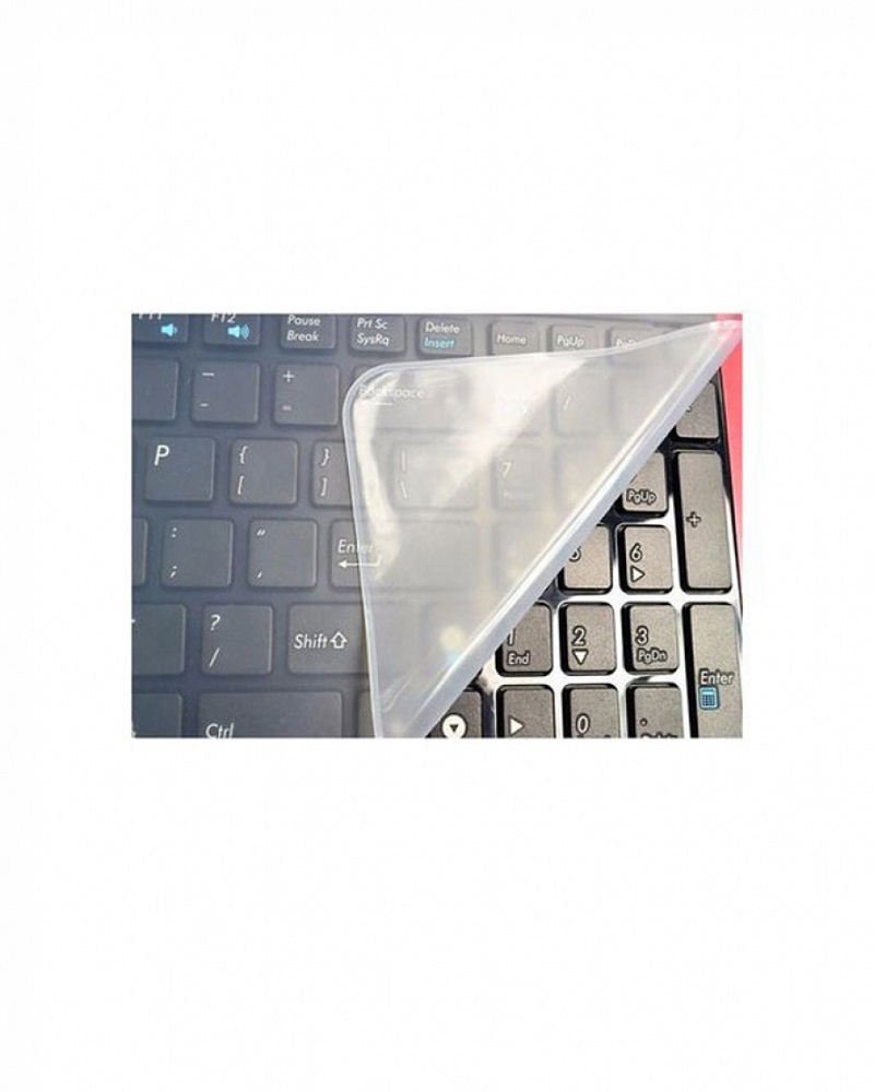 Laptop Keyboard Silicone Waterproof Protector For Numpad Laptop - Transparent