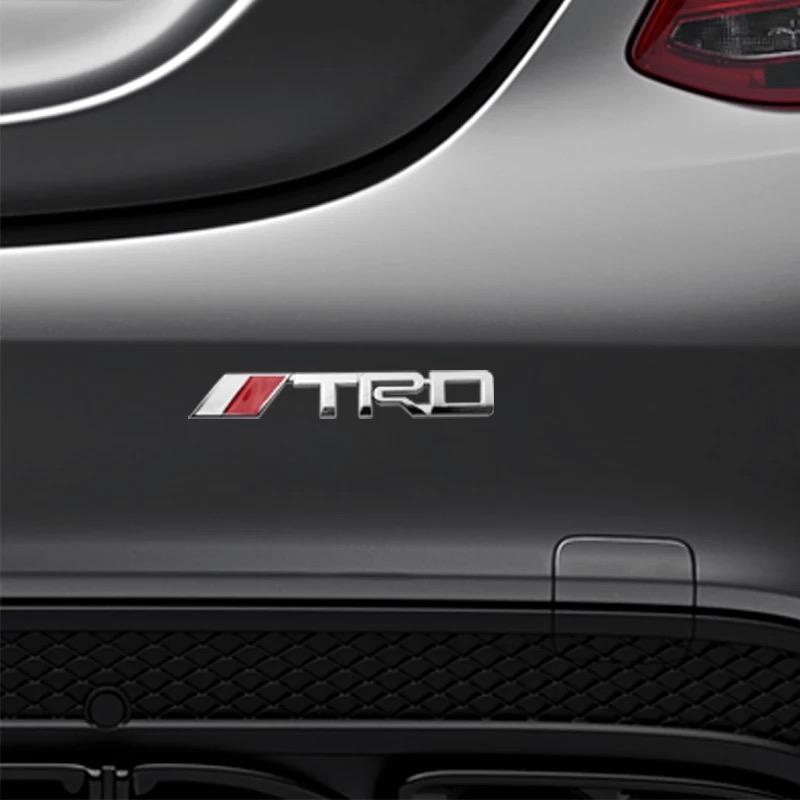 3D Metal TRD Logo Silver