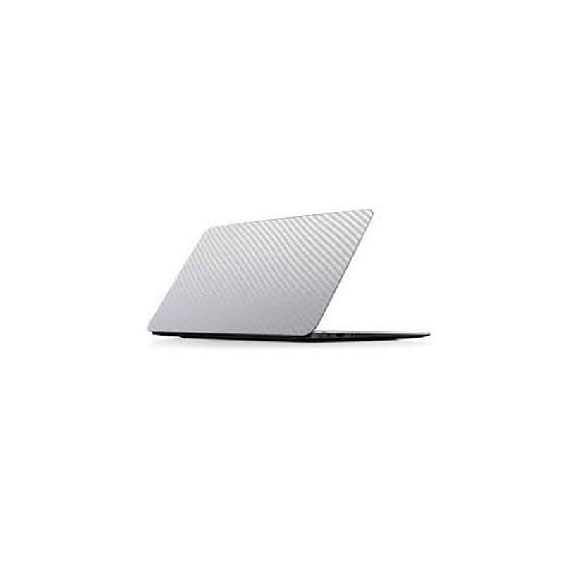 Universal Laptop Back Skin Carbon Fiber Texture - Transparent