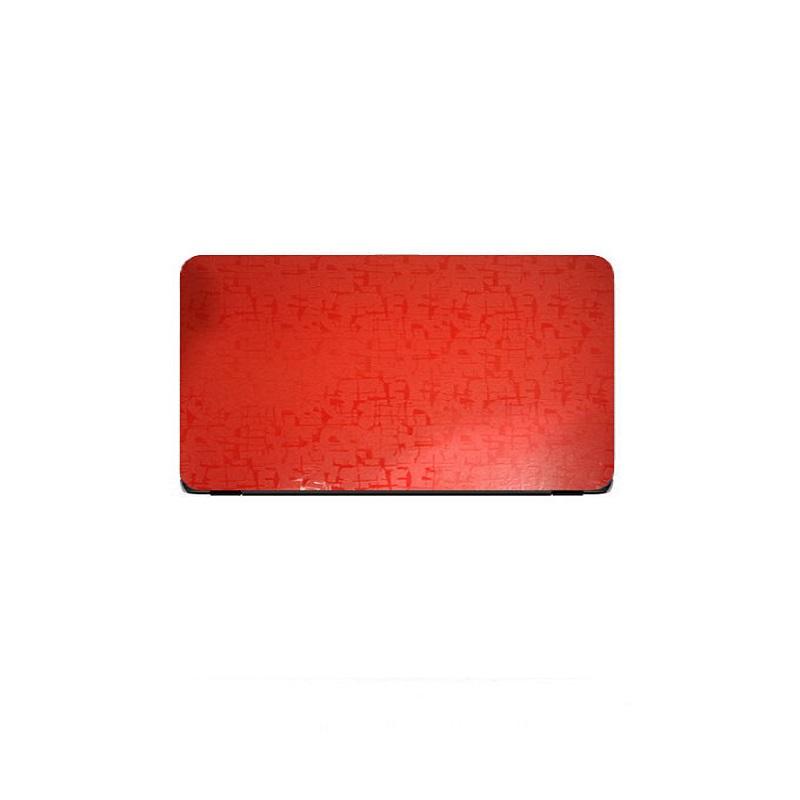 Universal Laptop Back Skin Scripture Texture - Red