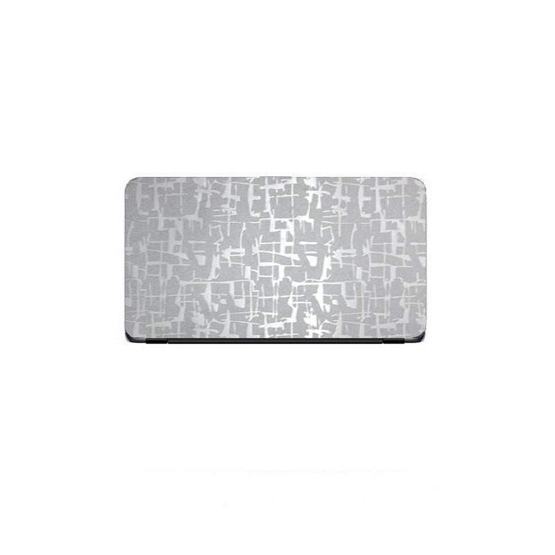 Universal Laptop Back Skin Scripture Texture - Silver