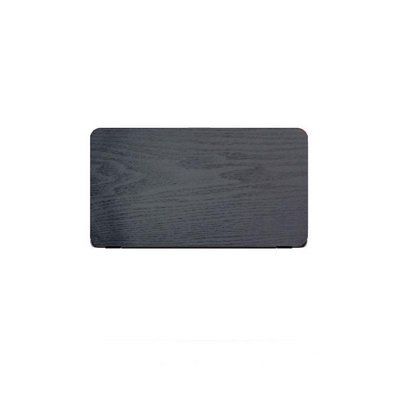 Universal Laptop Back Skin Wooden Texture - Black