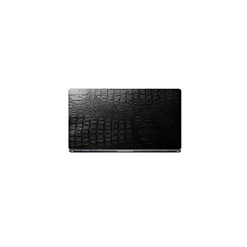 Universal Laptop Back Skin Crocodile Texture - Black