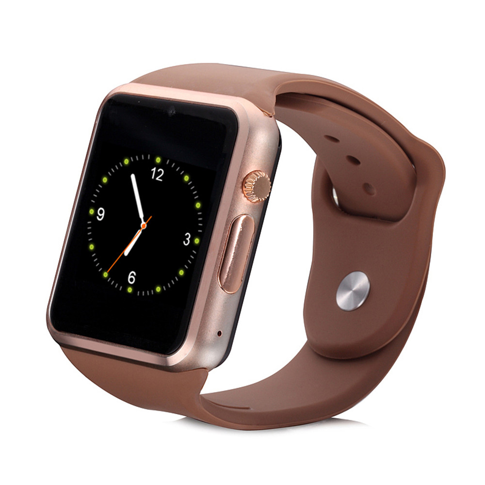 Smart Watch W08 With GSM Slot And Bluetooth Connectivity For IOS And Android Smart Phones Black Golden