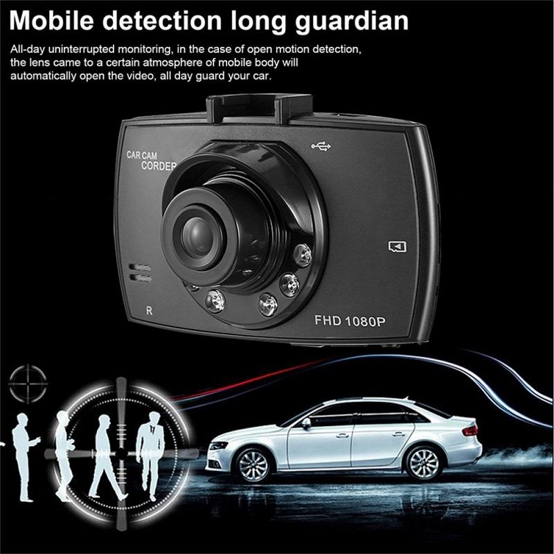 Car DVR Recorder Full HD 1080P Dash Cam Loop Recorder 6 fill lights Clear Night Vision Car Camera Wide Angle