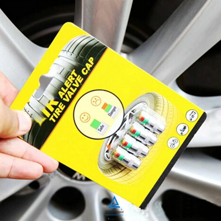 4PCS/Lot 2.4 Bar Car Auto Tire Pressure Alarm Monitor Valve Stem Caps Cover Alert Tyre Air gauge Warning Car Tyre Pressure Monitoring System  Tyre Wheel Stem Alert Diagnostic Tools